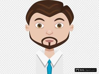 Male Cartoon With Gotee