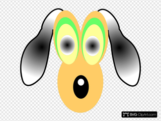 Cartoon Dog With Large Eyes