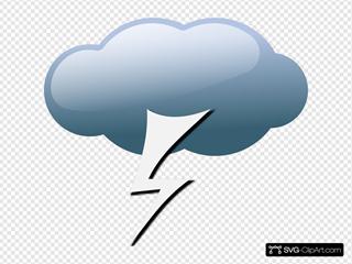 Thunderstorm Weather Symbols
