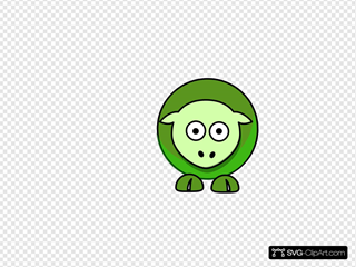 Sheep Cartoon Green 5a961eff