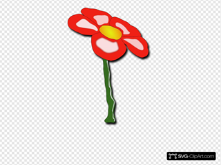 Growing Red Flower