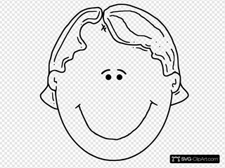 Boyface Outline SVG Clipart