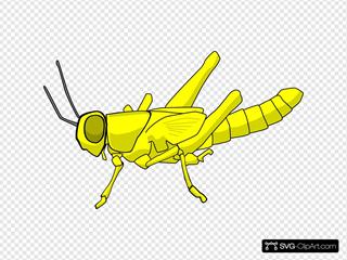 Yellow Cartoon Locust