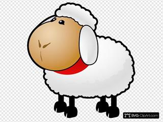Fuzzy Cartoon Sheep