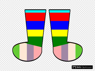Clothing Rainbow Socks