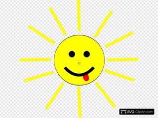 Funny Sun Face Cartoon