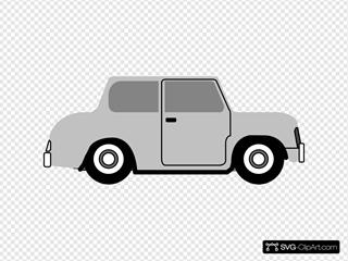 Vintage Old Cartoon Car