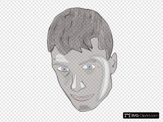 Male Teenager Face Clipart