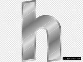 Silver Effect Letter H