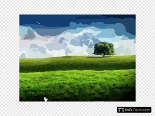 New Bliss Tree Green Landscape Scenery Wallpaper