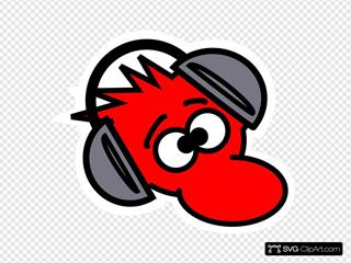 Mouse Wearing Headphones