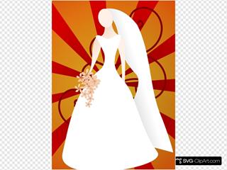 Bride With Sunburst Background