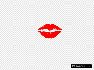 Lips Vector14355 SVG Clipart