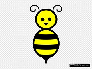 Cute Honey Bee Cartoon