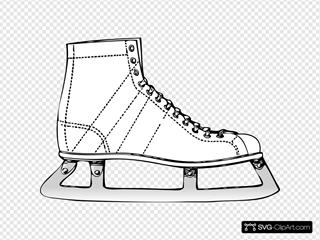 Ice Skate SVG Clipart