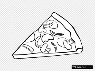 Pepperoni Pizza Slice (b And W)
