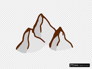 Game Map Symbols Mountains