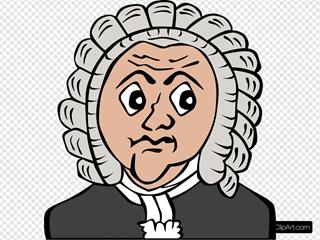 Bach Cartoon Bust