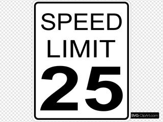 Paulprogrammer Ca Speed Limit Roadsign
