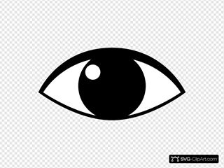 Cartoon Eye SVG Clipart