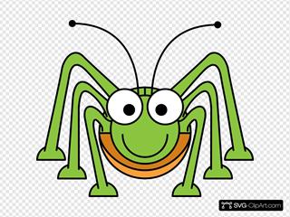 Studiofibonacci Cartoon Grasshopper