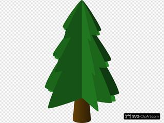 Tree Symbol 3d SVG Clipart