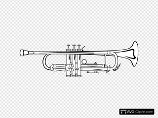 Trumpet B Flat (b And W)