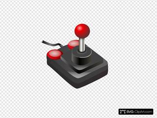 Joystick Black Red