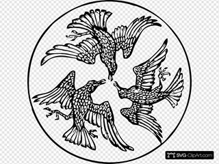Three Birds In A Circle