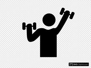 Exercise With Dumbbells Symbol