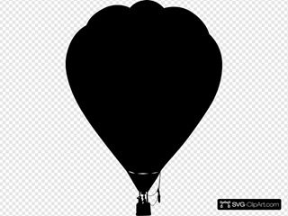 Clue Hot Air Balloon Outline Silhouette