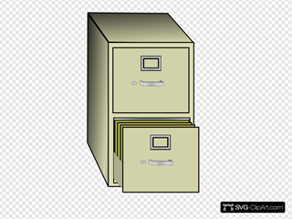 Metal File Cabinet Clipart