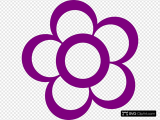 Purple Flower Outline