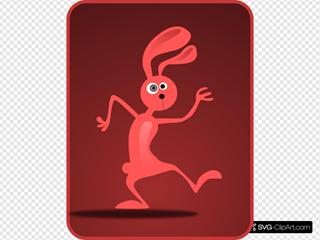Dancing Rabbit Clipart
