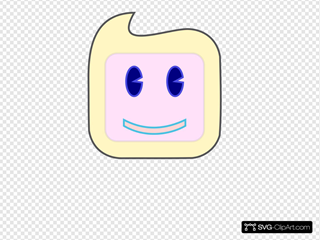 Smiley Square Face