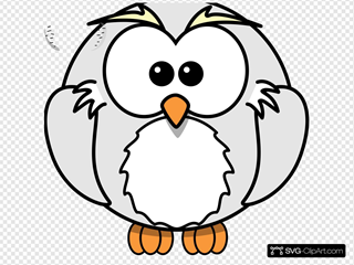 Harry Owl Cartoon Grey