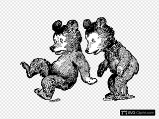 Startled Bears