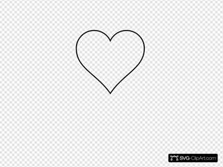 Small Red Heart Black And White Only