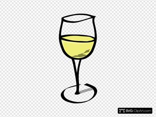 Glass Of White Wine Svg Vector Glass Of White Wine Clip Art Svg Clipart
