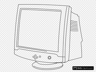 Outline Computer Monitor