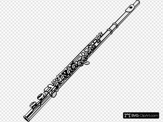 Flute In C Clipart