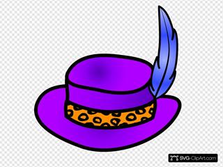 Pimp Hat SVG Clipart