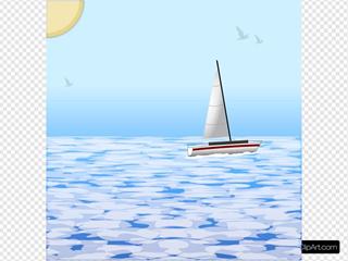 Sea Scene With Boat