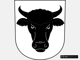 Cow Bull Horns Wipp Urdorf Coat Of Arms