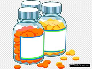 Blank Medicine Bottles