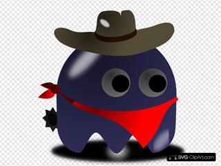 Pcman Game Baddie Cowboy