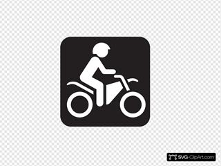Motor Bike Trail Black