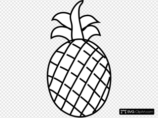 Pineapple Outline Clipart