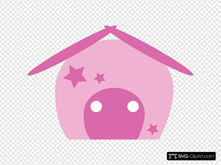 Cartoon House Pink