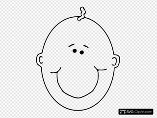 Happy Boyface Outline